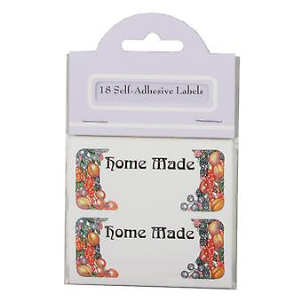 Traditional Fruit Design Self Adhesive Home Made Labels, Pack of 18
