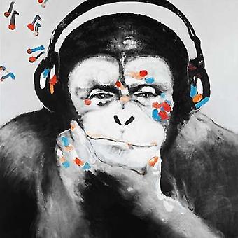Singe avec une impression Poster casque de Studio d'Art Atelier B
