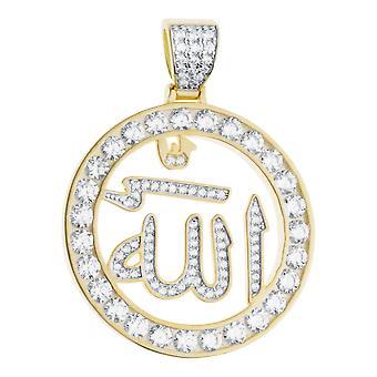 Premium Bling - 925 sterling silver Allah Medallion pendant
