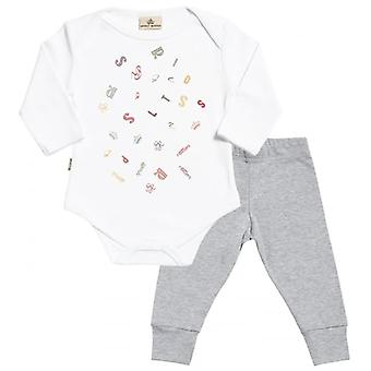 Spoilt Rotten SR Jumble Babygrow & Baby Jersey Trousers Outfit Set