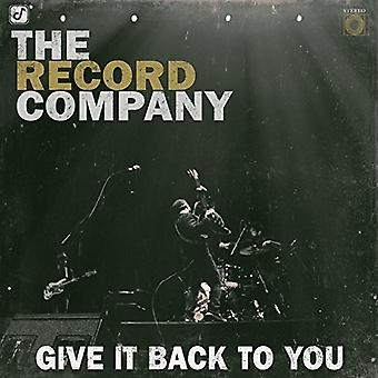 Record Company - Give It Back to You [CD] USA import