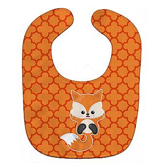 Carolines tesori BB7085BIB Baby Fox Quatrafoil bavaglino