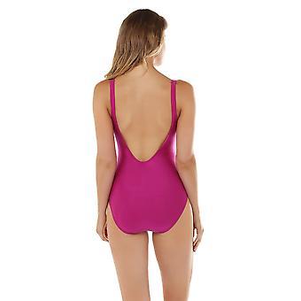 Seaspray 33-2150 Women's Just Colour Grape Purple Shaping Swimsuit
