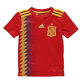2018-2019 Spain Home Adidas Football Shirt (Kids)
