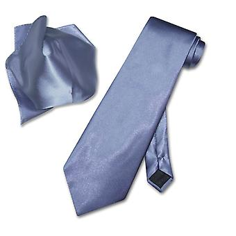 Antonio Ricci Solid NeckTie & Handkerchief Set Men's Neck Tie Set