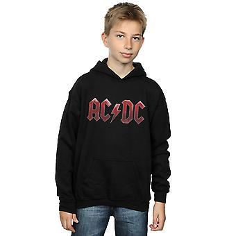 AC/DC jongens rode Ice Logo Hoodie