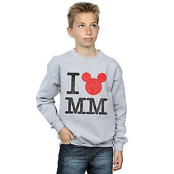 Disney Boys Mickey Mouse I Love Mickey Sweatshirt