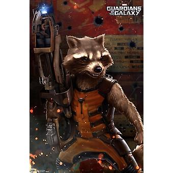 Marvel-Guardians of the Galaxy - Rocket Raccoon Poster drucken