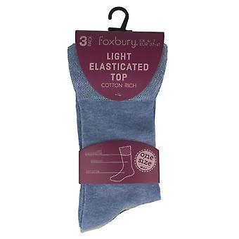 Ladies Foxbury Light Elasticated Top Socks SK260