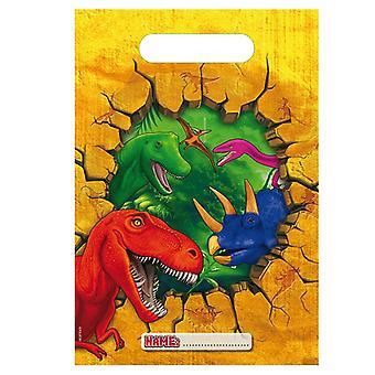 Sacos de festa saco pedaços de aniversário 6 do dinossauro Dino festa