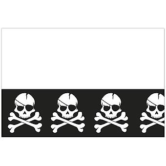 Pirates Black skull pirate skull and crossbones party tablecloth 120 x 180 cm 1piece children birthday theme party