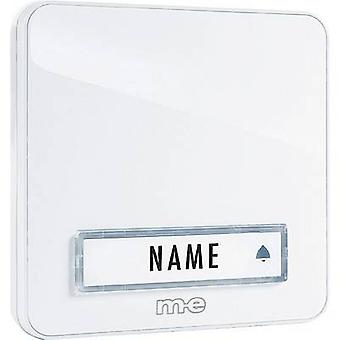 m-e modern-electronics KTA-1 W Bell panel incl. nameplate 1x White 12 V/1 A