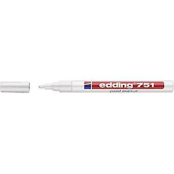Edding 4-751049 تحرير 751 علامة الطلاء علامة الطلاء الأبيض 1 مم، 2 ملم 1 أجهزة الكمبيوتر الشخصية / حزمة