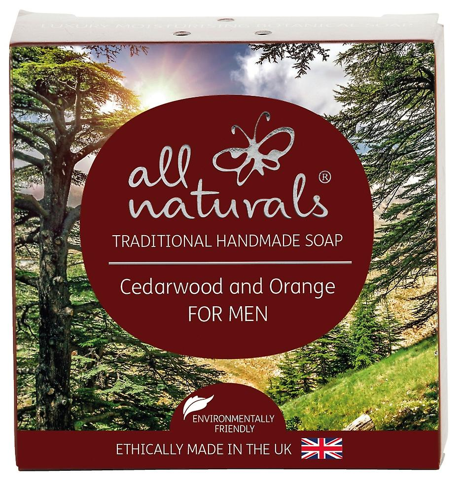 All Natural Organic Soap Cedarwood and Orange for Men 100g