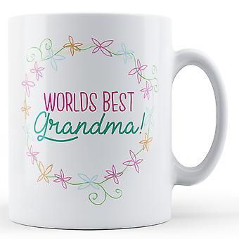 Mundos melhor avó! (Floral) - impresso caneca