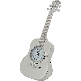 Gift Time Products Classic Guitar Miniature Clock - Silver