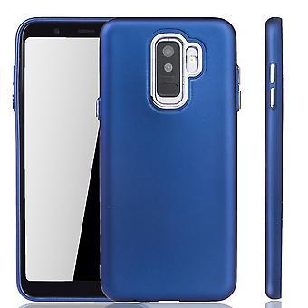 Wypadku - etui na telefon dla Samsung Galaxy A6 plus - przenośne etui w kolorze granatowym plus Samsung Galaxy A6