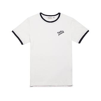 Rhythm Ringer Short Sleeve T-Shirt in White