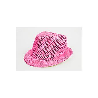 Sombrero de sombreros purpurina rosa