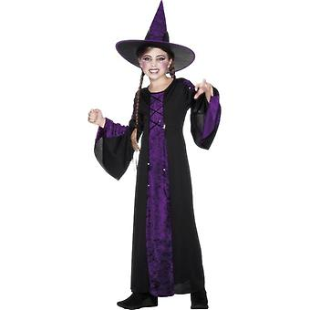 Bewitched Costume, Black and Purple, GIRLS Large Age 10-12