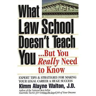 What Law School Doesn't Teach You...but You Really Need to Know! by K