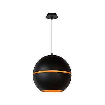Lucide Binari moderno redondo lámpara colgante Negro Metal