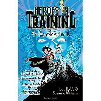 Bohaterowie w szkolenie 4-książki w-1!: Zeus i Thunderbolt zagłady; Poseidon i Sea Fury; Hades i...