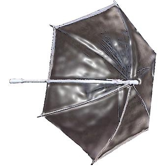 Parasol en plastique transparent
