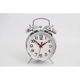 16cm Antique Style Wind Up Alarm Table Clock