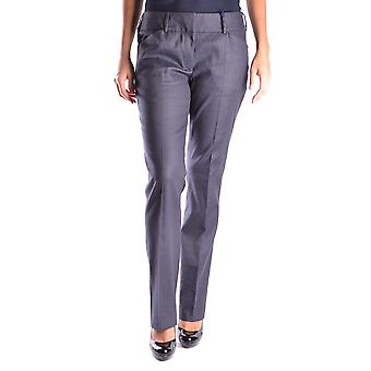 Incotex Ezbc093005 Women's Grey Cotton Pants