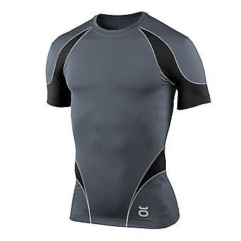 Jaco Mens Proguard Short Sleeve Rashguard - Gray/Black - mma bjj fitness