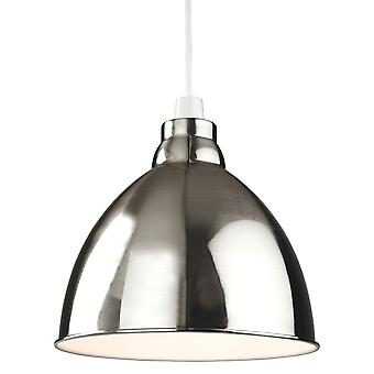 Erstlicht-1 Light Easy-Fit Ceiling Pendant Brushed Chrome-2312BC