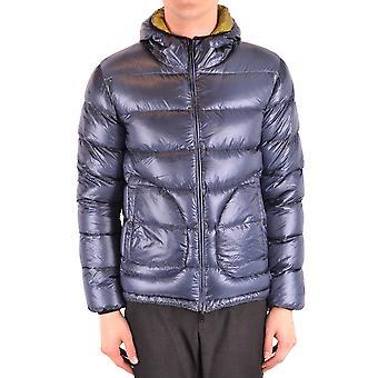 Herno Ezbc034043 Men's Blue Nylon Outerwear Jacket