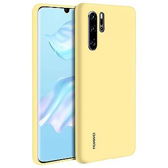 Huawei P30 Pro Soft-Touch puolijäykkä silikoni kotelo keltainen