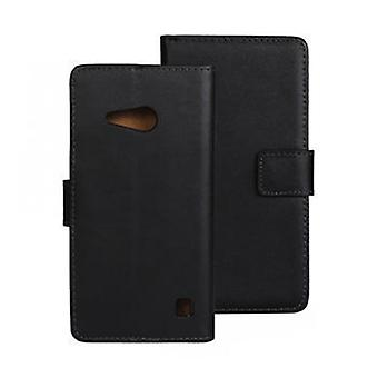 Wallet Case Nokia 730/735, genuine leather, black