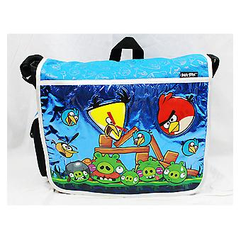 Messenger Bag - Angry Birds - (Blue) New School Book Bag an10862b