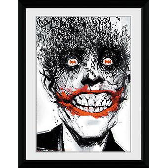 Batman komiska Joker inramade Collector Print 40x30cm