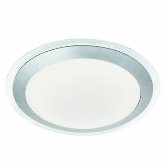 LED baño techo Flush Light plata IP44