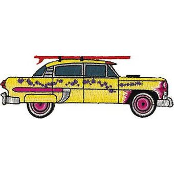 Patch - Automoblies - Yellow Car with Surfboard Iron On Gifts New Licensed p-3765