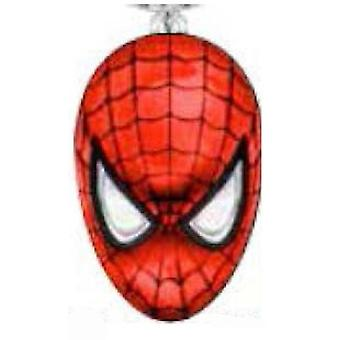 Metal Key Chain - Marvel - Spiderman Head Color Filled Pewter New 67934