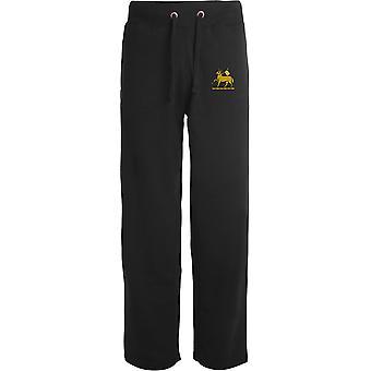 Queens Royal Regiment - Licensed British Army Embroidered Open Hem Sweatpants / Jogging Bottoms