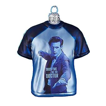 Doctor Who T-Shirt Shape 3.5 'quot; Glass Xmas Ornament