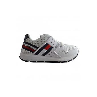 Tommy Hilfiger Boys White Low Cut Trainers