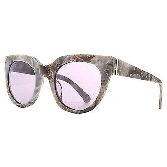 French Connection Premium Modern Cat-Eye Sunglasses - Grey Marble