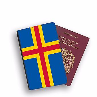 ALAND ISLAND Flag Passport Holder Style Case Cover Protective Wallet Flags design