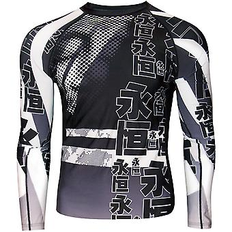 Dokebi Eternal Long Sleeve BJJ Rashguard - Alb