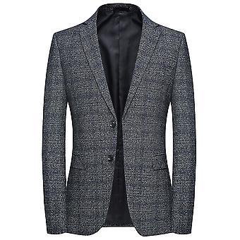 Allthemen Men ' s egysoros Slim Fit ősz & tavaszi alkalmi öltöny Jacket