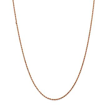 14 k rosa oro tinta aragosta artiglio chiusura 1,8 mm Sparkle-Cut Rope catena braccialetto alla caviglia - lunghezza: 7-10
