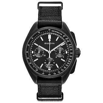Bulova Special Edition Lunar Pilot Black NATO Quartz Chronograph Men's Watch 98A186