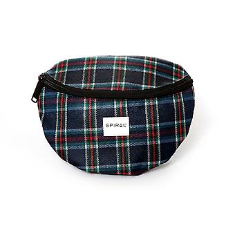 Spiral Navy Plaid Bum Bag